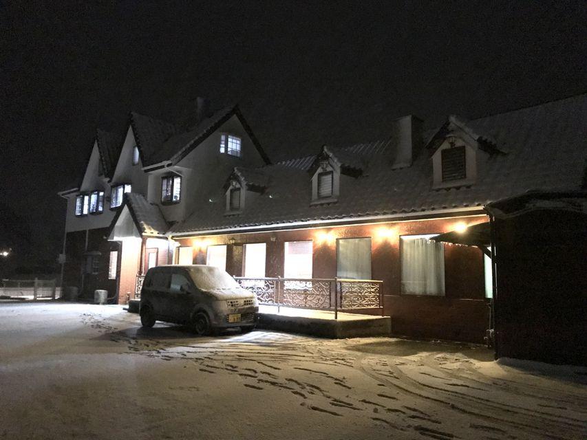 白糸犬舎 移転後初の雪