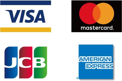 VISA、Master、JCB、AMEX