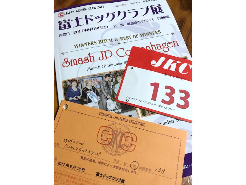 【ドッグショー】SAKURA OF FUJI EARTH FIELD JP 富士ドッグクラブ展 WINNERS
